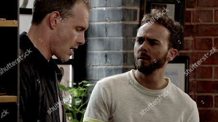 Ep 9783 Thursday 30th May 2019 Nick Tilsley, as played by Ben Price, offers David Platt, as played by Jack P Shepherd, a deal; that he takes the rap for the £80k and in return he'll sign over his half of the barber's shop. David's stunned.