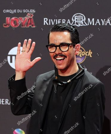 Manolo Caro arrives for the sixth Platino Awards ceremony at the Xcaret park in Playa del Carmen, Riviera Maya, Mexico, 12 May 2019 (issued 13 May 2019).
