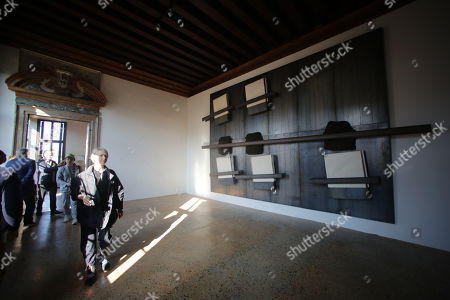 Stock Image of Prada Foundation in Venice, retrospective dedicated to the artist Jannis Kounellis