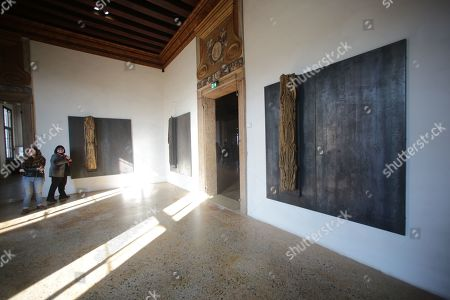 Stock Picture of Prada Foundation in Venice, retrospective dedicated to the artist Jannis Kounellis
