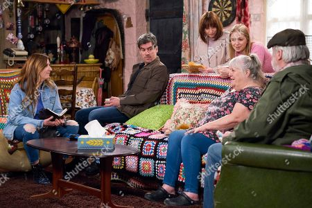 Ep 8482 Tuesday 21st May 2019 - 1st Ep The Dingles are excited when Lisa Dingle, as played by Jane Cox, accepts Harriet Finch's, as played by Katherine Dow Blyton, offer of marrying her and Zak Dingle, as played by Steve Halliwell, in two day's time. Lisa is delighted her family are rallying behind the idea of the wedding.