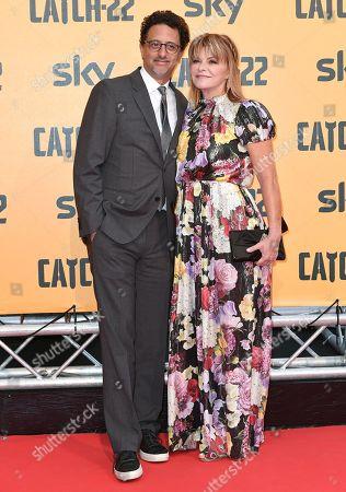 Grant Heslov, Lisa Heslov at the premiere