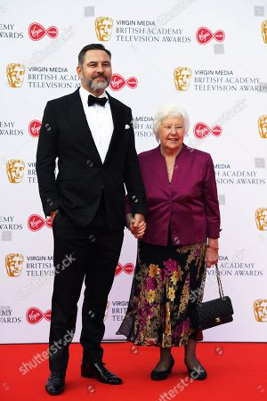 David Walliams (L) and Kathleen Williams (R) attend the Virgin Media British Academy Television Awards at the Royal Festival Hall in London, Britain, 12 May 2019. The ceremony is hosted by the British Academy of Film and Television Arts (BAFTA).
