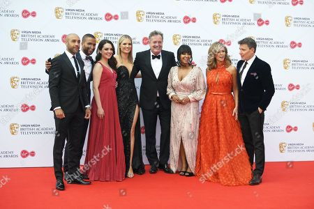 Good Morning BritainÂ?s Alex Beresford, Sean Fletcher, Laura Tobin, Charlotte Hawkins, Piers Morgan, Ranvir Singh, Kate Garraway, Ben Shephard attend the Virgin Media British Academy Television Awards at the Royal Festival Hall in London, Britain, 12 May 2019. The ceremony is hosted by the British Academy of Film and Television Arts (BAFTA).
