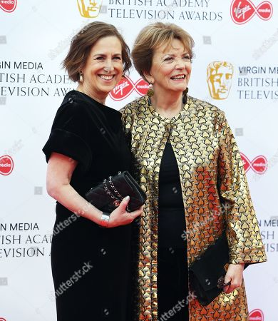Kirsty Wark (L) and Joan Bakewell (R) attend the Virgin Media British Academy Television Awards at the Royal Festival Hall in London, Britain, 12 May 2019. The ceremony is hosted by the British Academy of Film and Television Arts (BAFTA).