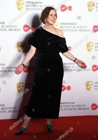 Kirsty Wark in the press room at the Virgin Media British Academy Television Awards at the Royal Festival Hall in London, Britain, 12 May 2019. The ceremony is hosted by the British Academy of Film and Television Arts (BAFTA).
