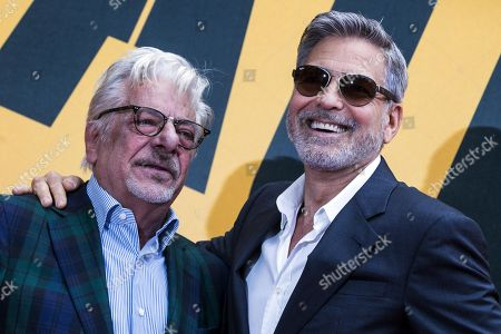 Giancarlo Giannini (L) and US actor, cast member, director and producer George Clooney (R) pose during a photocall for the mini series 'Catch-22' in Rome, Italy, 13 May 2019. The Sky TV miniseries is scheduled to be released in Italy on 21 May.