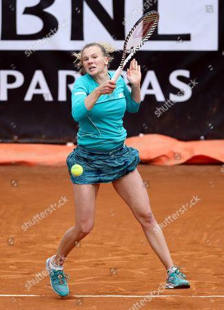 Katerina Sinakova (CZE) during the WTA Internazionali d'Italia BNL first round match