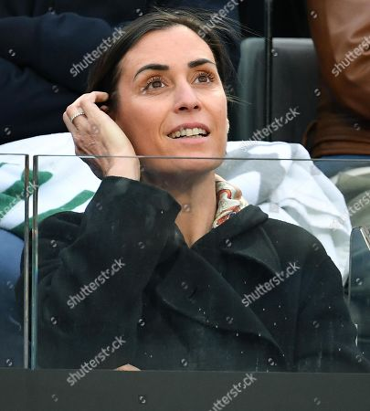 Flavia Pennetta, Italian former tennis player and wife of Fabio Fognini, watches the men's singles first round match between Jo-Wilfried Tsonga of France and Fabio Fognini of Italy at the Italian Open tennis tournament in Rome, Italy, 13 May 2019.
