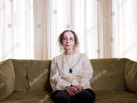 Stock Picture of American writer Joyce Carol Oates poses for a photo in Jerusalem