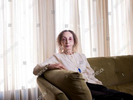 American writer Joyce Carol Oates poses for a photo in Jerusalem
