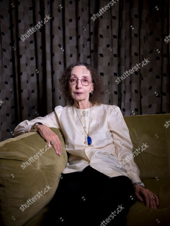 American writer Joyce Carol Oates poses for a photo in Jerusalem