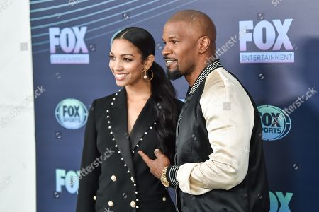 Stock Image of Corinne Bishop and Jamie Foxx