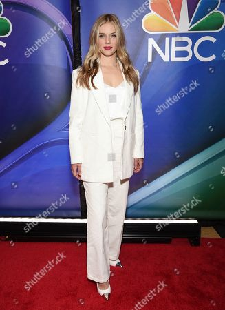 "Tracy Spiridakos, from the cast of ""Chicago P.D.,"" attends the NBC 2019/2020 Upfront at The Four Seasons New York on"