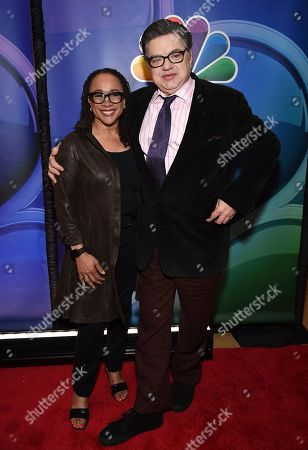 "S. Epatha Merkerson, Oliver Platt. S. Epatha Merkerson, left, and Oliver Platt, from the cast of ""Chicago Med,"" attend the NBC 2019/2020 Upfront at The Four Seasons New York on"