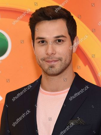 """Skylar Astin, from the cast of """"Zoey's Extraordinary Playlist,"""" attends the NBC 2019/2020 Upfront at The Four Seasons New York on"""