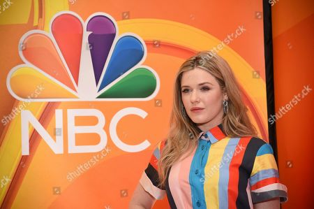 """Harriet Dyer, from the cast of """"The InBetween,"""" attends the NBC 2019/2020 Upfront at The Four Seasons New York on"""