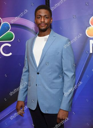 "Justin Cornwell, from the cast of ""The InBetween,"" attends the NBC 2019/2020 Upfront at The Four Seasons New York on"