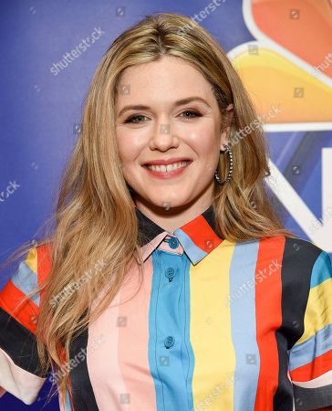 Harriet Dyer attends the NBC 2019/20 Upfront at The Four Seasons New York, in New York
