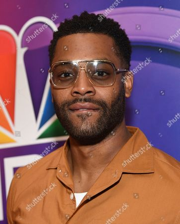 """LaRoyce Hawkins, from the cast of """"Chicago P.D.,"""" attends the NBC 2019/2020 Upfront at The Four Seasons New York on"""