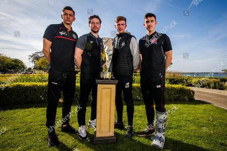 League of Ireland players representing Bohs' Cristian Magerusan, St. Pats' Barry Murphy, Shamrock Rovers' Ronan Finn and Jamie McGrath of Dundalk