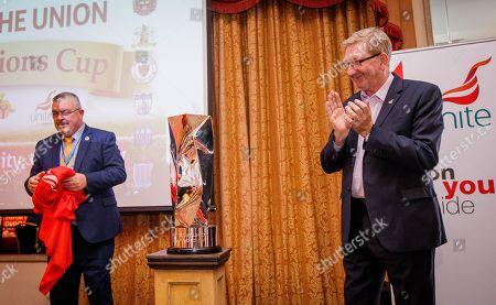 Unite General Secretary Len McCluskey unveils The Unite The Union Champions Cup