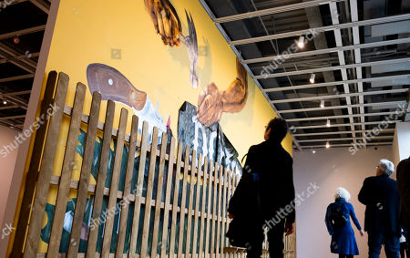 A person looks at a sculpture by artist Simone Leigh as part of the Whitney Museum of American Art's 2019 Biennial in New York, New York, USA, 13 May 2019. The exhibit, which runs from 17 May until 22 September, features seventy-five active American artists' work including paintings, sculptures, installations, films and videos, photography, performance, and sound.