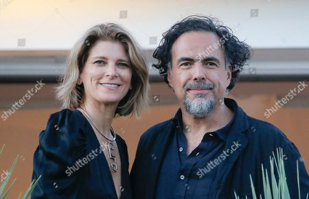 President of the Jury, Mexican director Alejandro Gonzalez Inarritu and his wife Maria Eladia Hagerman pose on top at the roof at the Martinez Hotel ahead of the 72nd annual Cannes Film Festival, in Cannes, France, 13 May 2019. The festival runs from 14 to 25 May.