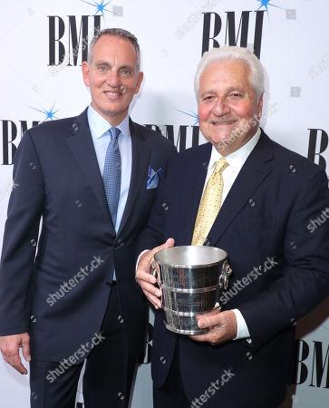 Mike O'Neill and Martin Bandier, BMI Icon Award recipient