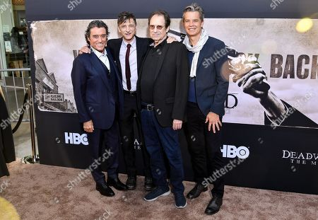 Ian McShane, John Hawkes, David Milch and Timothy Olyphant