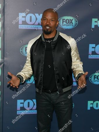"Jamie Foxx, from the cast of ""Beat Shazam,"" attends the FOX 2019 Upfront party at Wollman Rink in Central Park, in New York"