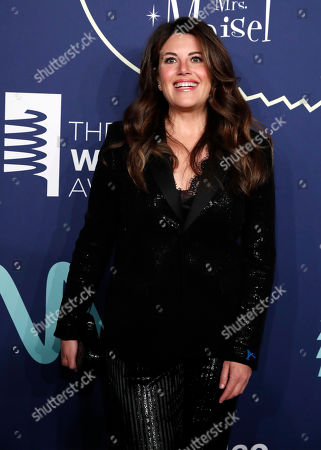 Monica Lewinsky poses on the red carpet as he arrives for the 2019 Webby Awards at Cipriani Wall Street in New York, New York, USA, 13 May 2019.