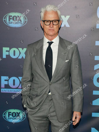 John Slattery attends the FOX 2019 Upfront party at Wollman Rink in Central Park, in New York