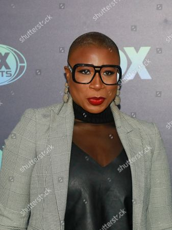 Aisha Hinds attends the FOX 2019 Upfront party at Wollman Rink in Central Park, in New York