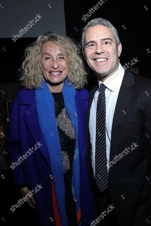 Ann Dexter Jones and Andy Cohen