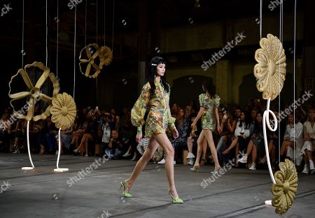 Models exhibit creations by Alice McCall during the Mercedes-Benz Fashion Week Australia in Sydney, Australia, 14 May 2019.