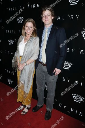 Stock Picture of Allyn Stewart (Producer) with son
