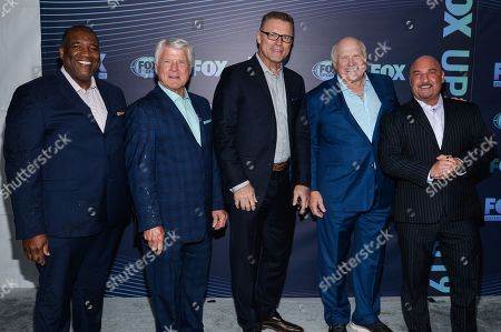 Stock Photo of Curt Menefee, Jimmy Johnson, Howi Long, Terry Bradshaw and Jay Glazer