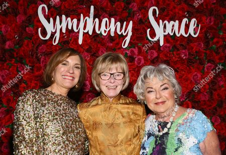 Gala honorees, pictured from left to right, Elaine Hochberg, Jane Curtin and Judy Zabar, are celebrated for their vision, artistry and support of arts education at the Symphony Space Annual Gala on in New York. Symphony Space was founded in the belief that the arts bring people together, transcend barriers, and celebrate both our similarities and differences