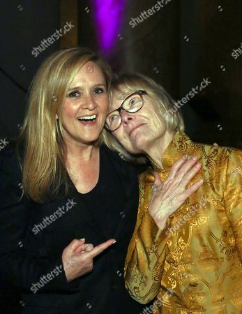 Samantha Bee, left, is pictured with Jane Curtin, right, after presenting her with the Artistry Award at the Symphony Space Annual Gala on in New York. Symphony Space was founded in the belief that the arts bring people together, transcend barriers, and celebrate both our similarities and differences