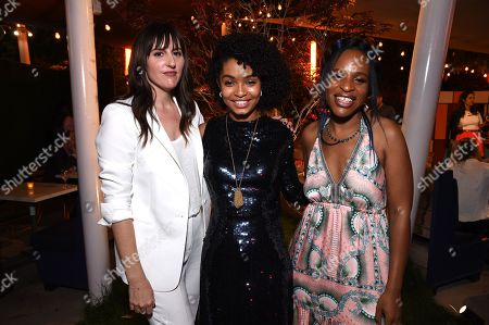 Stock Picture of Ry Russo-Young, Director, Yara Shahidi, Nicola Yoon, Writer