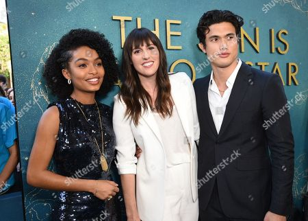 Stock Image of Yara Shahidi, Ry Russo-Young, Director, Charles Melton