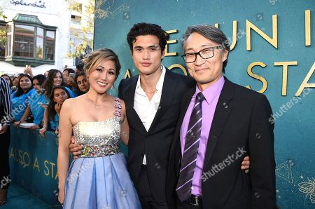 Stock Photo of Cathy Shim, Charles Melton, Keong Sim