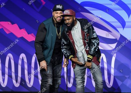The Kid Mero, left, and Desus Nice attend the 23rd annual Webby Awards at Cipriani Wall Street, in New York