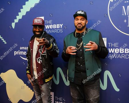 Desus Nice, left, and Kid Mero attend the 23rd annual Webby Awards at Cipriani Wall Street, in New York