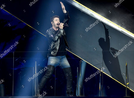 Ville Virtanen feat. Sebastian Rejman of Finland performs during the rehearsal before semi-final 1