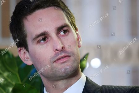 Co-Founder and CEO of Snap Inc, Evan Spiegel speaks during the Wall Street Journal (WSJ) CEO Council in London, Britain, 14 May 2019. Reports state that the Wall Street Journal CEO Council connects the world's most ambitious and influential business leaders to discuss the issues shaping the future.