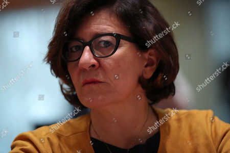 Italy's Defense Minister Elisabetta Trenta attends an EU Foreign and Defense Ministers meeting with their counterparts of the G5 Sahel countries at the European Council headquarters in Brussels