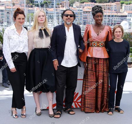 Alice Rohrwacher, Elle Fanning, Alejandro Gonzalez Inarritu, Maimouna N'Diaye and Kelly Reichardt