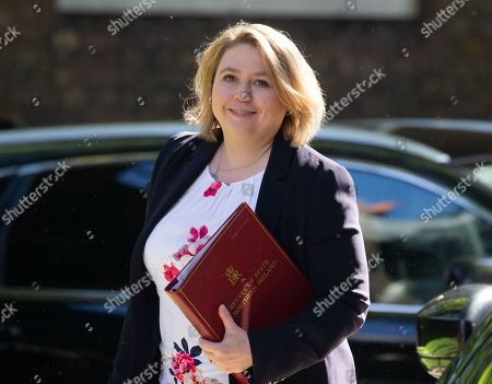 Karen Bradley, Secretary of State for Northern Ireland, arrives for the Cabinet meeting.